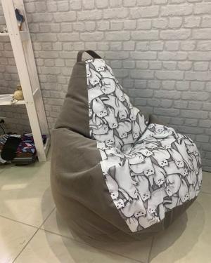 Кресло мешок р-р Стандарт Комбо Котики