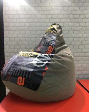 кресло-мешок р-р стандарт Мьюзик грей