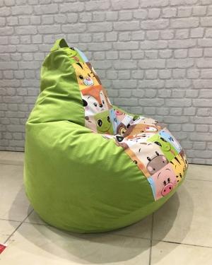 Кресло-мешок р-р стандарт Мордашки грин
