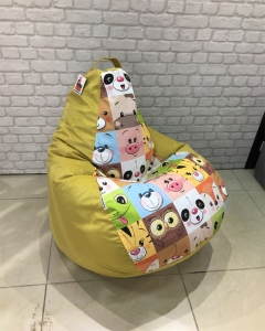 Кресло-мешок р-р стандарт Мордашки елоу