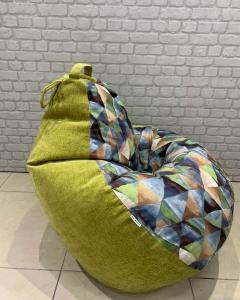 Кресло-мешок р-р Плюс Твинкли Грин